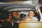 Joanne Lees and Peter Falconio in their van in a photo taken before they were ambushed. Photo / Getty Images