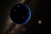 This artistic rendering shows the distant view from Planet Nine back toward the sun. The planet is thought to be gaseous, similar to Uranus and Neptune. Photo / Handout from Caltech/R. Hurt, IPAC