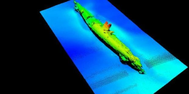 A sonar image of the wreck. Photo / Supplied