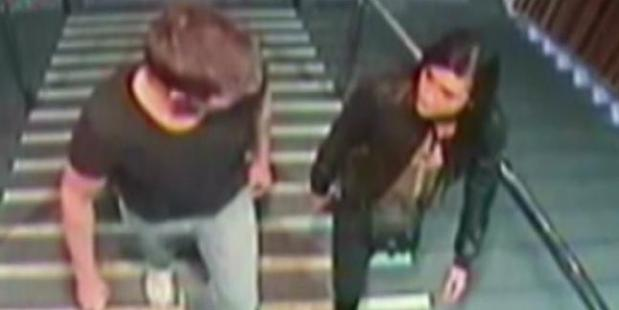 CCTV footage of Gable Tostee with Warriena Wright on the night she fell from his Gold Coast apartment. Photo / News Corp Australia