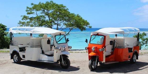 Jump aboard a tuk tuk for a bar crawl with a difference in the Cook Islands. Photo / Tik-e Tours Rarotonga