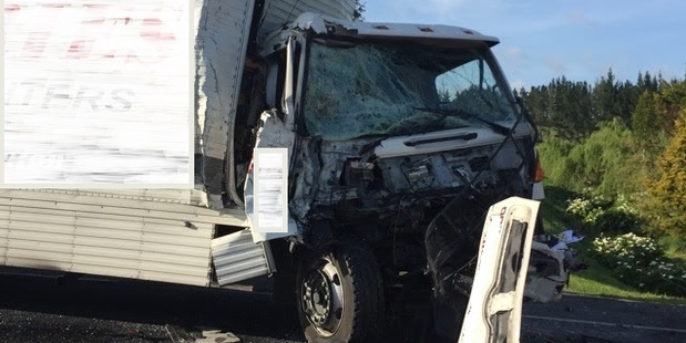 The crash, on State Highway 2, was a nose-to-tail. Photo / Supplied