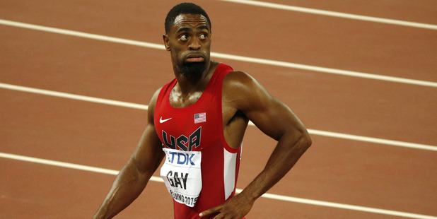 Loading Olympic sprinter Tyson Gay. Photo / AP