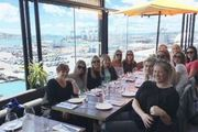 All Blacks WAG's indulge in a long lunch as they prepare to watch their partners' attempt to re-write the record books at Eden Park tonight. Photo / Supplied
