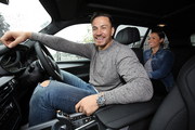 Sonny Bill Williams in his new BMW in Auckland. Photo / Michael Bradley