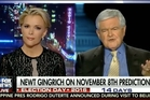 Megyn Kelly defended the coverage of allegations of sexual misconduct against Donald Trump and advised Newt Gingrich to work on his anger issues.