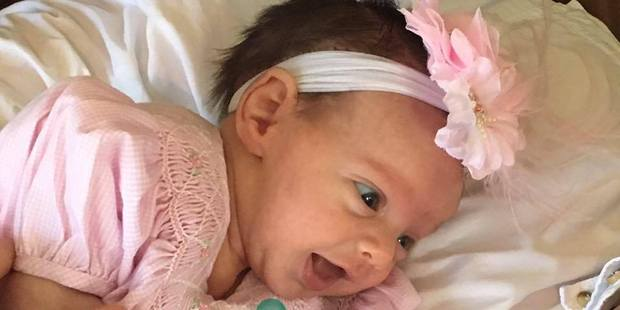Margaret was kept on bedrest and the replaced baby made it through another 12 weeks to nearly 36 weeks before Lynlee Hope was born via C-section. Photo / Margaret Boemer Facebook
