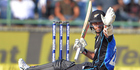 The Black Caps have fallen short in the third ODI in India this morning, losing by seven wickets. Photo / Photosport