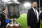 Michael Cheika was unhappy after losing the Bledisloe Cup test against the All Blacks. Photo / photosport.nz