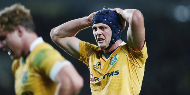 Loading Wallabies flanker Dean Mumm has been handed a one match suspension for an elbow on All Blacks lock Brodie Retallick. Photo / Photosport