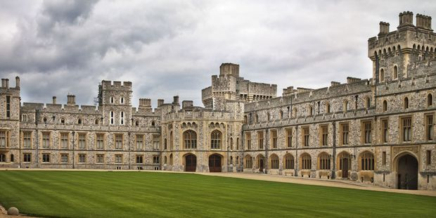 A courtyard at windsor castle. Photo / 123RF