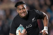 All Blacks wing, Julian Savea scores a try against Australia during the Bledisloe Cup match. Photo / Nick Reed