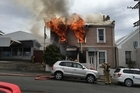 house fir on Carroll St Dunedin at about 11:50am 23 October 2016 pictre supplied credit: OTAGO DAILY TIMES