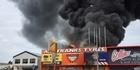 Watch: Massive fire in Hamilton
