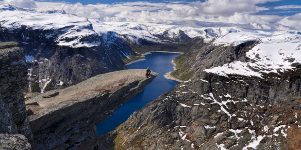 An Australian student plunged to her death taking a photo at Trolltunga, in Norway. Photo / 123RF
