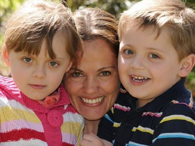 Maria Lutz with her severely autistic children Elisa and Martin. They were found dead along with her husband Fernando Manrique in Sydney's north. Photo / Facebook