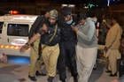 At least 118 people were wounded in the attack at the police training academy in Quetta. Photo / AP
