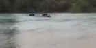 Watch: Watch: 4WD goes for a swim in the Waimakariri River