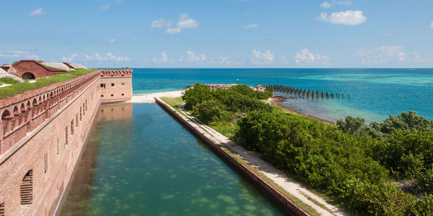 A view from the wall of Fort Jefferson in Dry Tortugas National Park. Photo / 123RF