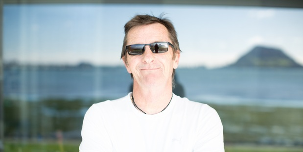 Loading Phil Rudd at his Tauranga waterfront home. Photo by Michelle Cutelli Photography