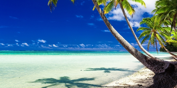 Garth Young plays sweet piano music all over the scented island paradise of Rarotonga.