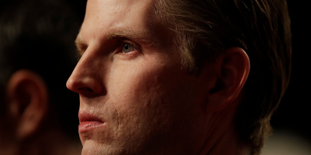 "Loading Eric Trump says ""I just don't believe it,"" of sexual-assault allegations against his father. Photo / AP"