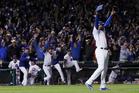 Chicago Cubs relief pitcher Aroldis Chapman celebrates. Photo / AP