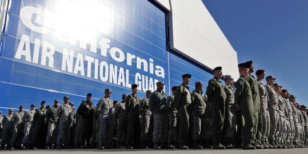 Nearly 10,000 California National Guard soldiers have been ordered to repay huge enlistment bonuses a decade after signing up to serve in Iraq and Afghanistan. Photo / AP