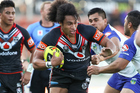 Bunty Afoa in action for the Junior Warriors in 2014. Photo / Photosport