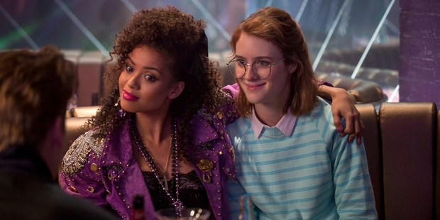 A scene from the Netflix series Black Mirror, episode San Junipero. Photo / Netflix