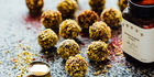 Blackcurrant, manuka and lemon honey bliss balls
