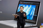 Panos Panay, corporate vice president for Surface Computing at Microsoft Corp., displays the Surface Book during the company's media event. Photo / AP