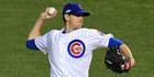 Pitcher Kyle Hendricks and his Chicago Cubs teammates could make it difficult for the All Blacks to make headlines during their stay in the USA. Photo / Photosport