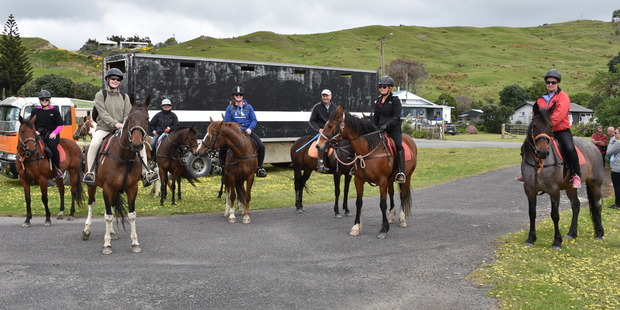 READY TO RIDE: The Opiango Hills Horse Trek at Porangahau on Sunday, October 23, was another well-attended Spring Fling event.