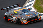 Dominic Storey in action in the Mercedes AGM GT3 at the Hampton Downs 101. Photo / Matthew Hansen