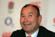 Eddie Jones has continued his war with Michael Cheika, taking a jibe at the clown jokes on the eve of the Wallabies tour. Photo / Photosport