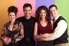 Megan Mullally as Karen Walker, Eric McCormack as Will Truman, Debra Messing as Grace Adler, Sean Hayes as Jack McFarland from Will & Grace. Photo / Getty