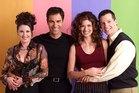Megan Mullally as Karen Walker, Eric McCormack as Will Truman, Debra Messing as Grace Adler, Sean Hayes as Jack McFarland from Will & Grace. Photo / Getty