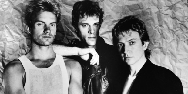 "A promotional portrait of the British rock band The police (L-R)"" Sting, Stewart Copeland, and Andy Summers, circa 1983. Photo / Getty"