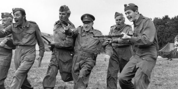 28th August 1970: The cast of 'Dad's Army', a popular tv series depicting the activities of the Home Guard during the Second World War. Photo / Getty