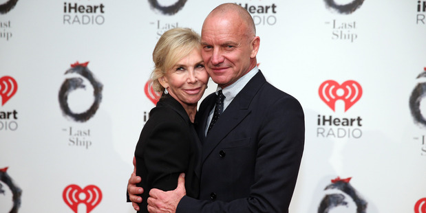 "Sting and Trudie Styler attend the ""The Last Ship"" Broadway opening night after party at Pier 60 on October 26, 2014 in New York City. Photo / Getty"