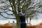 Israel Dagg tees off during a round of golf at the Gullane Golf Club in Scotland. Photo / Getty Images