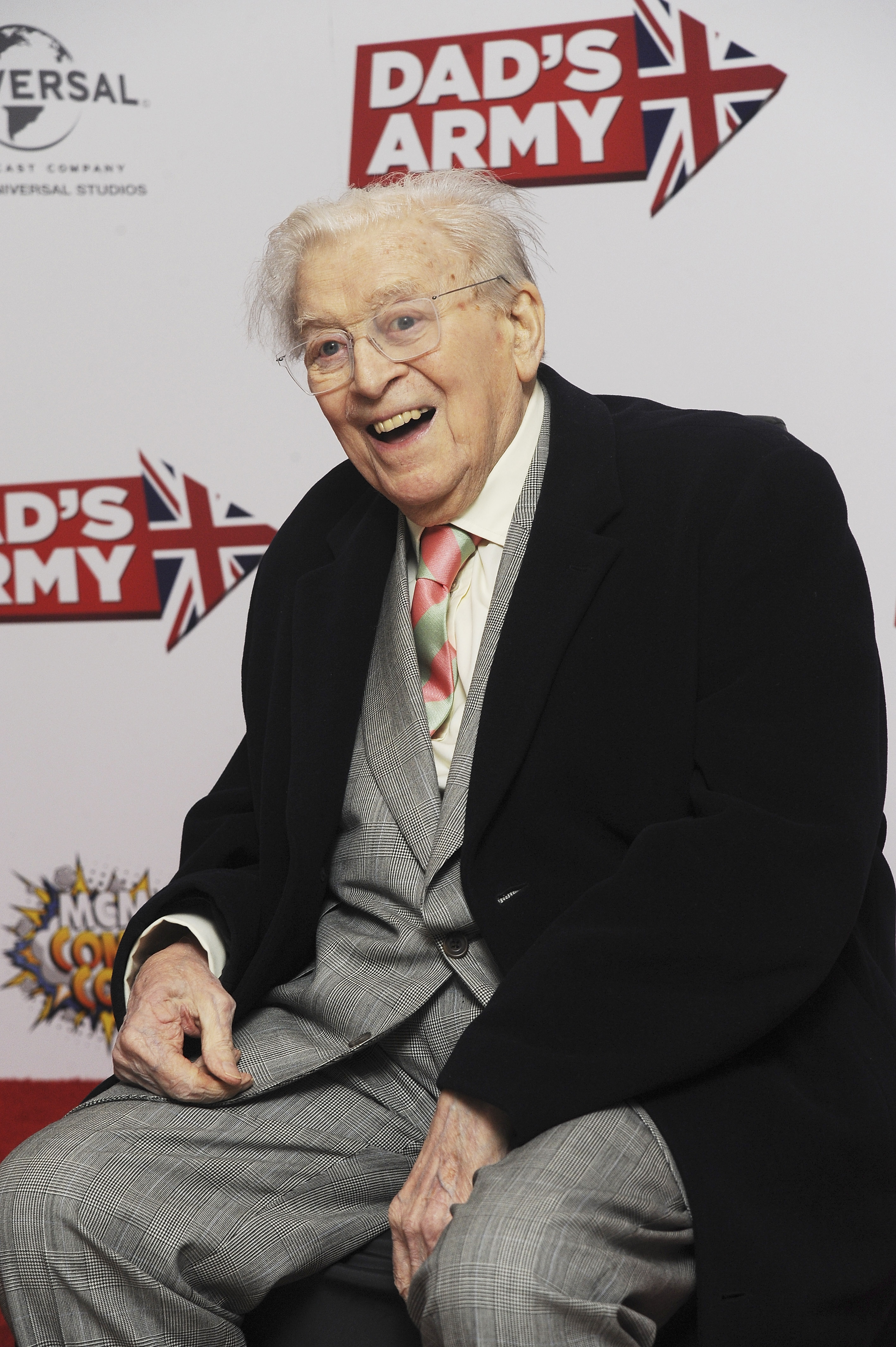Jimmy Perry attended 'Dad's Army' World Premiere on January 26, 2016 in London. Photo / Getty