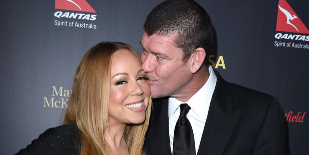 James Packer and Mariah Carey arrives at the 2016 G'Day Los Angeles Gala at Vibiana on January 28, 2016 in Los Angeles, California. Photo / Getty