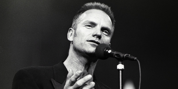 Sting performs on stage at Night of the Proms, Ahoy, Rotterdam, Netherlands, 30th November 1993. Photo / Getty