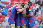 The Newcastle Knights have reportedly swooped on a Kiwi schoolboy. Photo / Getty