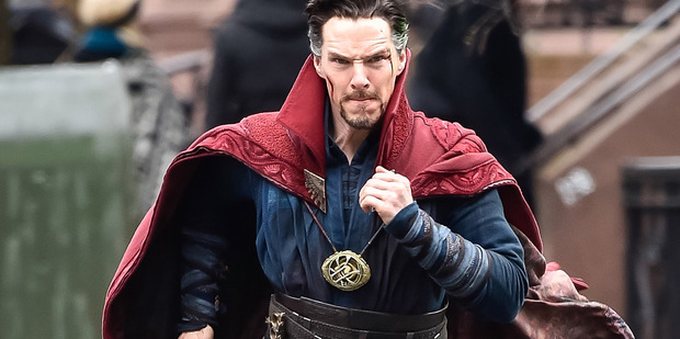Actor Benedict Cumberbatch is seen filming Doctor Strange on location on April 2, 2016 in New York City. Photo / Getty