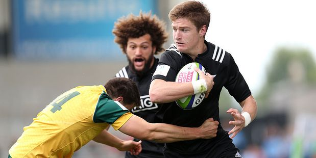 Jordie Barrett along with Rieko Ioane may be the All Blacks preferred centre pairing come the 2019 Rugby World Cup. Photo / Getty Images