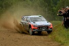 Hayden Paddon during Day Three of the WRC Poland. Photo / Getty Images