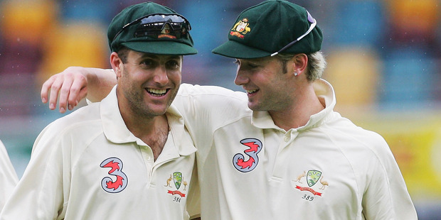 Michael Clarke and Simon Katich have been exchanging barbs, spurred by Clarke's autobiography. Photo / Getty